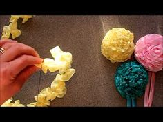 Ribbon Carnations by Crafty Ribbons - YouTube http://www.youtube.com/user/craftyribbons