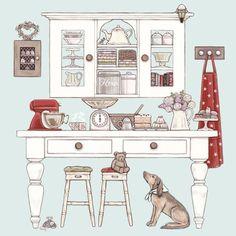Baking Day greeting card, Sally Swannell