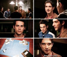 "Teen Wolf Season Episode 14 ""The Sword and the Spirit"" Stiles Stilinski, Scott McCall, and Liam Dunbar Teen Wolf Mtv, Teen Wolf Dylan, Teen Tv, Dylan O'brien, Stydia, Sterek, Lydia Banshee, Teen Wolf Seasons, Wolf Stuff"