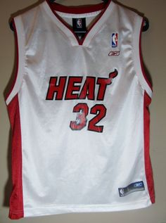 Shaquille O'Neal , Miami Heat jersey , youth large - Basketball-NBA