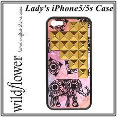 凄く かわいい 象さん エレファント iphoneケース iphone 5 5s 高級感 ゴールド スタッズ かわいい ぞうさん カバー Wildflower アイフォン apple アイホン 海外 - セレクトショップレトワールボーテ - Yahoo!ショッピング
