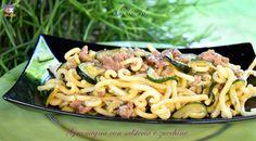 Gramigna con salsiccia e zucchine, ricetta gustosa
