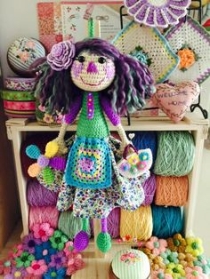 Crochet Dollies, Crochet Toys, Beautiful Crochet, Amigurumi Doll, Doll Patterns, Crochet Projects, Free Pattern, Sewing, Crafts