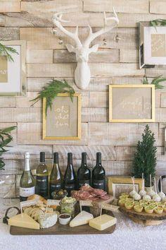 Holiday party set up #home #house #design #interior #ideas #homedesign #interiordesign #decorations #furniture #homedecor