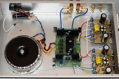 Make your own 50W Hi-fi audio amplifier electronic project with protection circuit for speakers to prevent damage using simple transistors opamp and relay.
