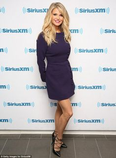Glowing: Christie Brinkley brought her ever-youthful visage to the SiriusXM studios on Thursday