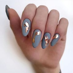 36 best winter nail art designs ideas 2019 00059 com is part of nails - nails Fruit Nail Designs, Fall Nail Art Designs, Pretty Nail Designs, Acrylic Nail Designs, Gold Acrylic Nails, Matte Nails, Gold Nail, Winter Nail Art, Winter Nails