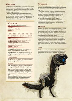 Dungeons And Dragons Rules, Dnd Dragons, Dungeons And Dragons Homebrew, Dnd Stats, Robot Monster, Rpg Map, Dungeon Master's Guide, Dnd 5e Homebrew, Dragon Rpg