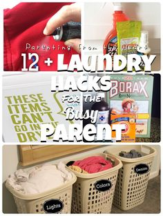 12 + Laundry Hacks for the Busy Parent | Parenting from the Heart #laundry #hacks For any parent, it is easy to feel overrun by laundry and faced with stubborn stains that just won't come out. This ESPRO Sports Cleaner review also includes tips to use common household items to make laundry more efficient.