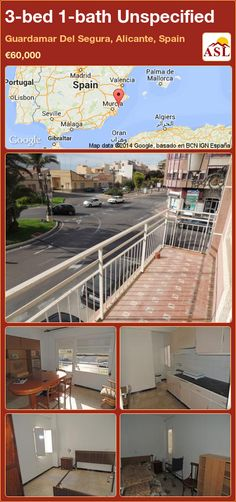 Unspecified for Sale in Guardamar Del Segura, Alicante, Spain with 3 bedrooms, 1 bathroom - A Spanish Life Valencia, Portugal, Alicante Spain, Main Street, Balcony, Maine, Spanish, Windows, Bathroom