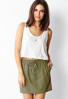 Must-Have Linen-Blend Skirt | FOREVER 21 - 2000072317