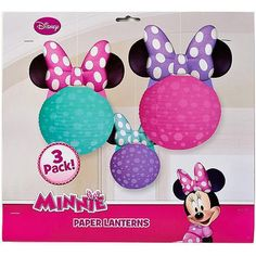 Minnie Mouse Bow Tique Paper Lantern Decoration 3 Count Party Supplies