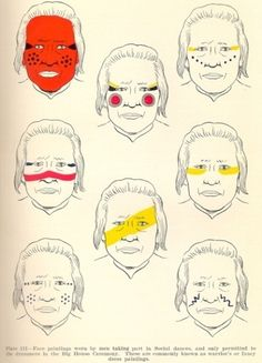 Indian Face Paint Meanings ...... | The Native Americans ...