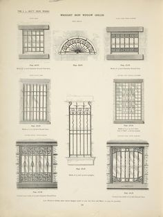 Wrought iron window grilles.