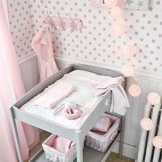 Colchón cambiador bebé rosa Pastel