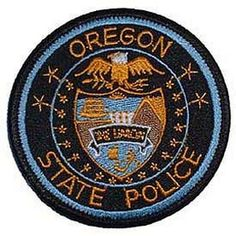 Oregon State Police patch.  #LeatherCop #LeatherUS 🇺🇸