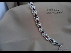 DIY bracelet easy pattern for beginners- 2020 Lucky bracelet. DIY bracelet easy pattern for beginners- 2020 Lucky bra Beaded Bracelets Tutorial, Diy Bracelets Easy, Beaded Bracelet Patterns, Beading Patterns, Bracelet Designs, Diy Jewelry, Handmade Jewelry, Jewelry Making, Jewelry Holder