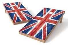 United Kingdom Flag Single Cornhole Board-Vintage