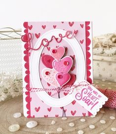 It's the final day of the December release from Papertrey Ink. Today I have the pleasure of sharing the new You Make My Heart Soar stamp set and coordinating dies with you. My tiny balloons are stamped in. Valentine Heart, Valentine Day Cards, Valentines, Valentine Ideas, Love Stamps, Clear Stamps, Love Cards, Diy Cards, Craft Station