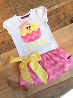 Girls Easter outfit Twirly skirt & shirt set by EverythingSorella