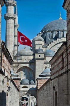 Süleymaniye Camii, Istanbul - See Pic Istanbul City, Istanbul Travel, Islamic Architecture, Historical Architecture, Islamic World, Islamic Art, Beautiful Mosques, Beautiful Places, Beautiful Pictures