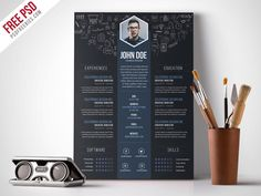 Free resume templates: We all know first impression counts, and your architecture resume is the first impression a potential employer gets of you. Graphic Designer Resume Template, Best Free Resume Templates, Graphic Resume, Graphic Design Resume, Resume Design Template, Cv Template, Design Templates, Psd Templates, Curriculum Vitae Download