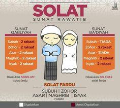 Solat sunat rawatib The prayer of circumcision is valid Hijrah Islam, Islam Marriage, Doa Islam, Muslim Quotes, Islamic Quotes, Muslim Religion, Moslem, Quran Quotes Inspirational, Islamic Posters