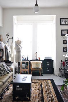 Project Runway finalist Melissa Fleis' Bohemian San Francisco flat, showcased on SF Girl by Bay blog
