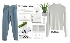 """#Romwe"" by credentovideos ❤ liked on Polyvore featuring Threshold, adidas Originals, Distinctive Designs, Forever 21, Topshop, Bloomingville and vintage"