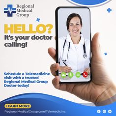 Schedule a Telemedicine visit with a trusted Regional Medical Group doctor today! LINK IN BIO Hello It, Regional, Schedule, Medical, Group, Learning, Link, Timeline, Medicine