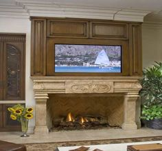 4 Refined Tricks: Fireplace With Tv On Top fireplace hearth cleanses.Fireplace Candles Candelabra fireplace and tv man cave.Fireplace With Tv On Top. Tv Over Fireplace, Build A Fireplace, Fireplace Seating, Paint Fireplace, Shiplap Fireplace, Fireplace Mirror, Small Fireplace, Concrete Fireplace, Farmhouse Fireplace