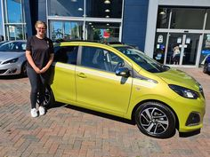 Miss Mya Rose Field has exchanged her Fiat 500 for this  brand new 108 in Green Fizz complete with soft top!  Bring on the sun and enjoy the summer!   Thank you for choosing Charters Peugeot!  #108top #greenfizz #charterspeugeot #summerfun #newcarday #newcar #smallcar #fun #love Small Cars, Fiat 500, Peugeot, Summer Fun, Bring It On, Brand New, Sun, Rose, Green