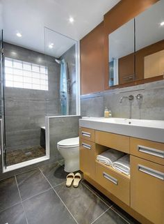 This could be a great makeover idea for my ugly bathroom. I want to get rid of my tub and have a roomy shower.