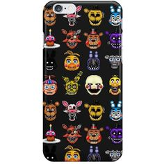 Five Nights at Freddy's Pixel Art For iPhone 6 5s 5 4S 4 Hard Case... ❤ liked on Polyvore featuring accessories, tech accessories and freddy