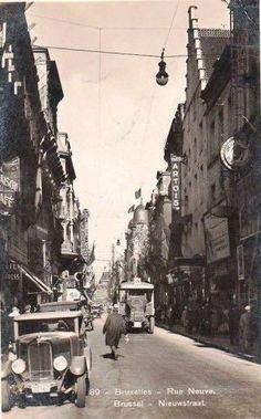 Rue Neuve.. Nieuwstraat Vintage Postcards, Vintage Photos, Photos Originales, Archi Design, Expo, Antwerp, Belle Epoque, Vintage Photography, Old Photos