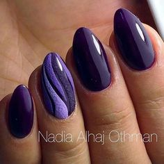 60 Purple Cute Nails Ideas For Winter. Today, we are going to tell you what does purple nail polish say about you and how your nail polish making the first impression for you. Purple is a color we ass Purple Nail Polish, Purple Nails, Purple Art, Purple Nail Designs, Nail Art Designs, Gel Manicure Designs, Fancy Nails, Trendy Nails, Manicure E Pedicure