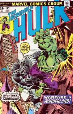 The Incredible Hulk #195 Jan '76 A young boy named Ricky is running away from the orphanage that he lives in order to escape the taunting of his peers. Stowing away in a freight car, Ricky encounters the Hulk. At first Ricky is frightened of the Hulk, but the two become fast friends. Sal Buscema Pencils. Includes Marvel Value Stamp series B