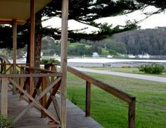 One of Narooma's most popular accommodation choices is the Deluxe Spa Unit that can sleep up to 6 people in comfort. We are the perfect place to base yourself at during your Narooma getaway. Holiday Park, Garden Bridge, Perfect Place, Spa, Deck, The Unit, Outdoor Structures, Places, Outdoor Decor