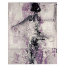 All In A Swirl artfully adorns your walls with a graceful female form created from a soft orchid color palette.