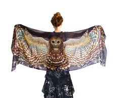 Night Owl Bird Scarf