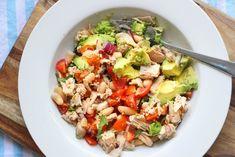 Tuna, Avocado, Tomato and Cannellini Bean Salad