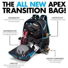 3 Disciplines. 2 Transitions. 1 Bag. Available now at TYR.com #TYR