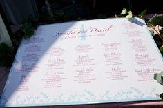 Wine Theme Seating Chart. Aqua and Pink