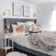 Teen Girl Bedrooms for sweet comfy room decor - From do it yourself to fun help. Tip ref 8754209776 Categorized in teen girl bedrooms decorating ideas cozy , created on this moment 20190315 Stylish Bedroom, Cozy Bedroom, Home Decor Bedroom, Modern Bedroom, Girls Bedroom, Living Room Decor, Contemporary Bedroom, Scandinavian Bedroom, Bedroom Furniture