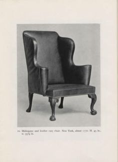 American Chippendale furniture a picture book, 1949. Metropolitan Museum of Art Publications. The Metropolitan Museum of Art, New York (b10394679) | A mahogany chair from about 1770. #furniture
