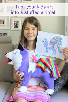 Our kids LOVE to draw, so we decided to help them bring their imaginations to life with a Budsies unique gift! Make your own at Budsies.com