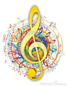 Colorful music elements in color circle with soft yellow/gold music key in center. Colorful music elements in color circle with soft yellow/gold music key in center. Kinds Of Music, Music Is Life, Musik Wallpaper, Foto Blog, Music Drawings, Music Decor, Music Pictures, Treble Clef, Music Education