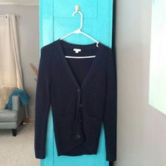Women's Gap Cardigan small Navy blue cardigan in excellent condition. Worn and washed once. Fits more like an extra small. GAP Sweaters Cardigans