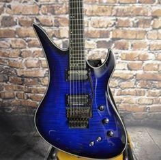 Schecter Guitar Research Blackjack SLS Avenger FR-S Blueburst Electric Guitar And Amp, Guitar Amp, Electric Guitars, Cool Guitar, Types Of Guitar, Guitar Parts, Unique Guitars, Custom Guitars, G Tech