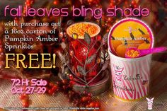 Sprinkle My Candles- Pink Zebra Independent Consultant: FREE carton of Sprinkles  with purchase of Fall Le...